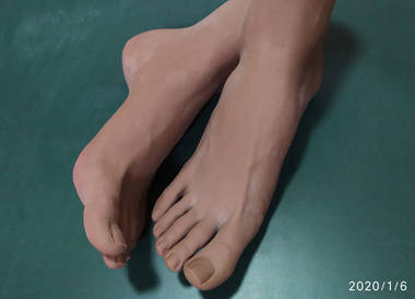 black dark skin foot