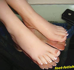 silicone foot model