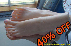 39 size silicone foot model