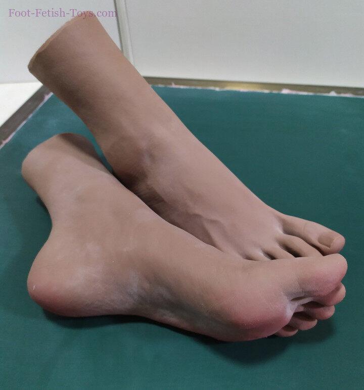 black dark skin foot
