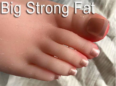 silicone female big feet