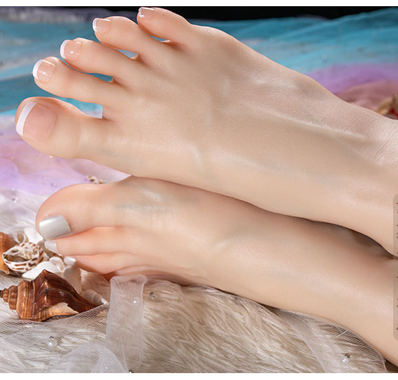 silicone upgraded girl feet sex toy