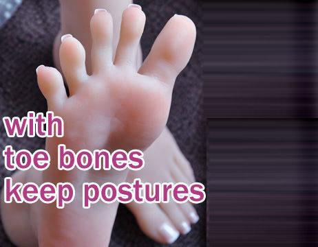 silicone fetish toy toe bones