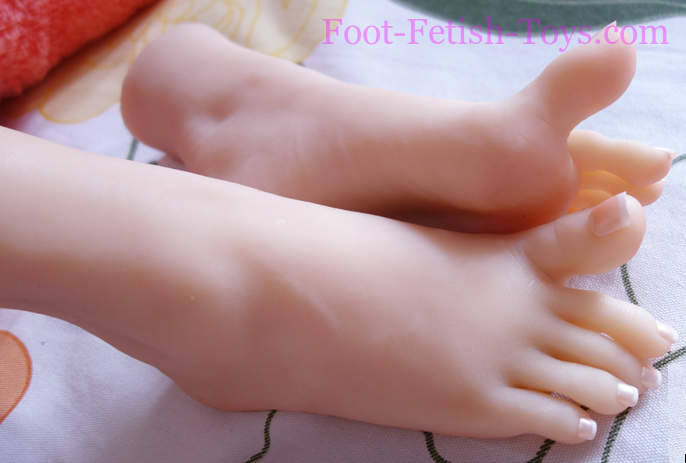 Foot fetish with toes bones