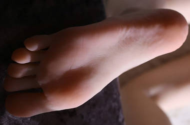 silicone Foot fetish toy