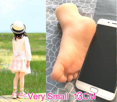 silicone Little girl foot