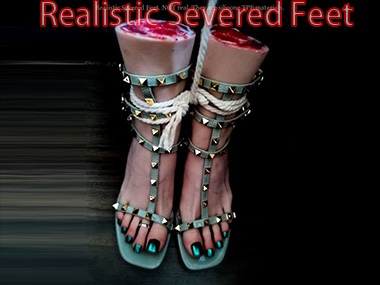 silicone Realistic Severed Feet