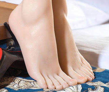 silicone foot showing model