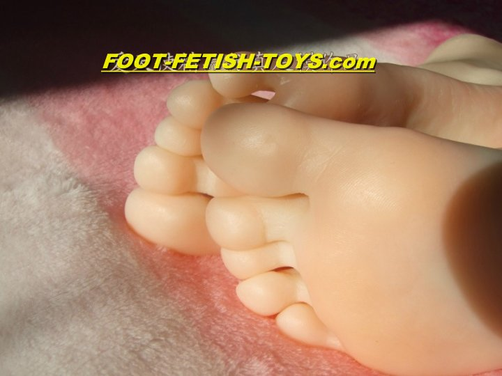 female foot worship toy