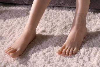 silicone girl foot fetish toy