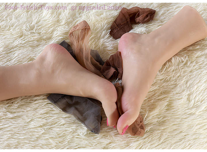 Realistic silicone foot toys