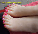 silicone foot fetish model