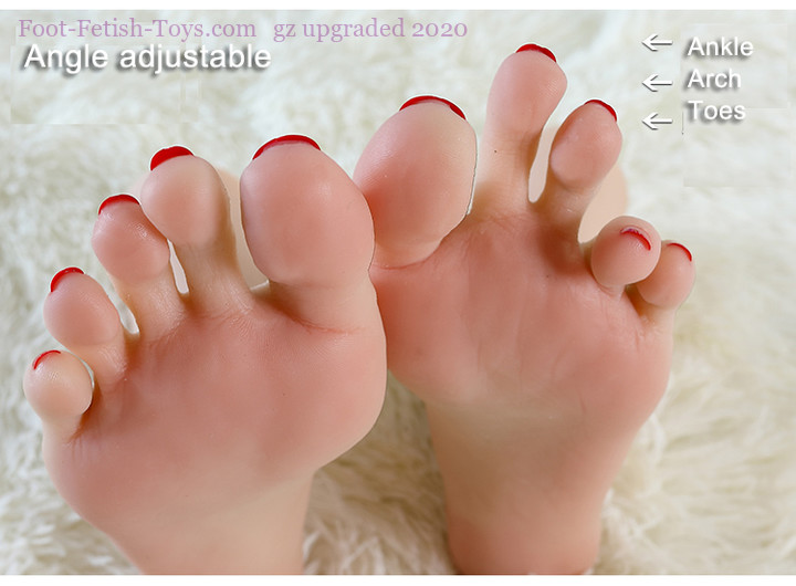 Realistic female foot toys