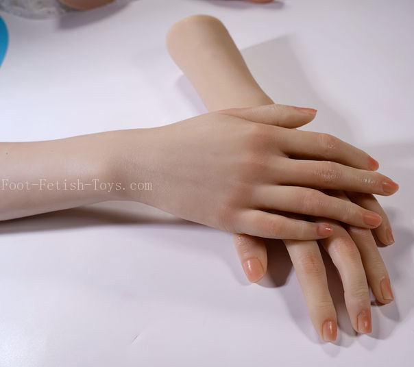 silicone lady hand model