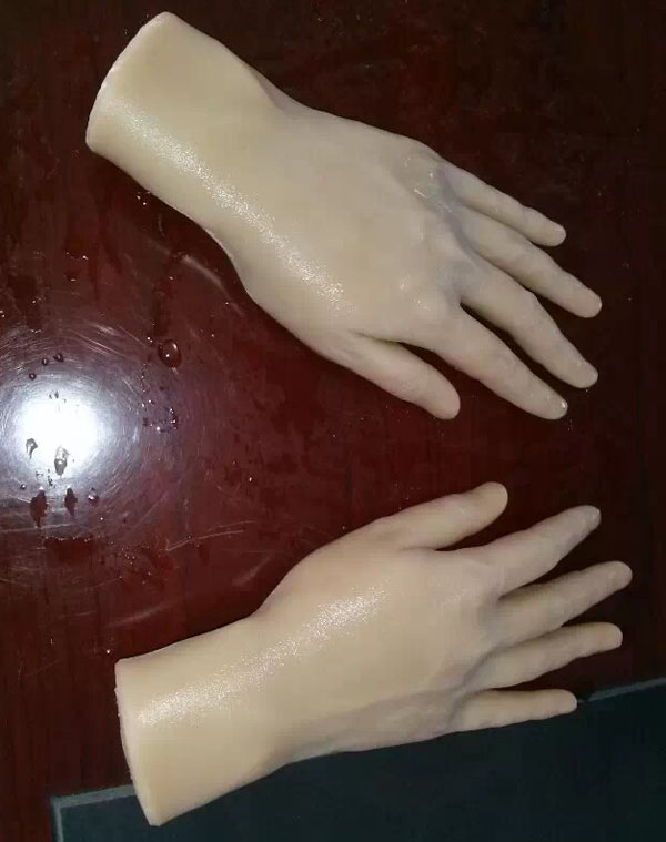 silicone man hands